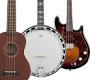 Ukulele, mandolíny, banja